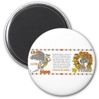 Valxart 2000 1940  2060 zodiac MetalDragon Virgo Magnet