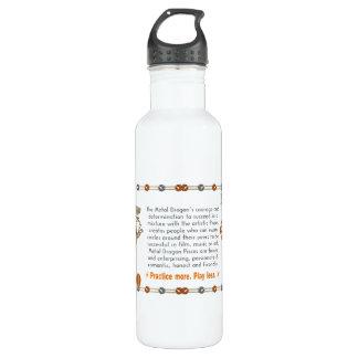 Valxart 2000 1940  zodiac MetalDragon Pisces Stainless Steel Water Bottle