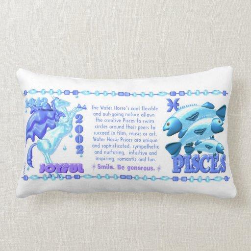Valxart 2002 1942  zodiac WaterHorse Pisces Throw Pillow