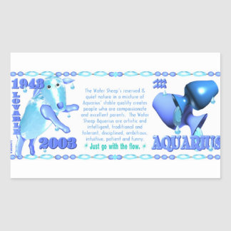 Valxart 2003 1943 2063 acuarios de WaterSheep del Pegatina Rectangular