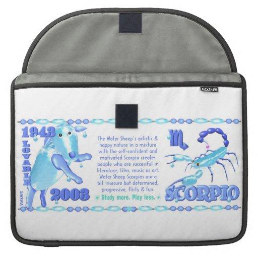 Valxart 2003 1943 2063 escorpiones de WaterSheep d Fundas Macbook Pro