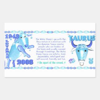 Valxart 2003 1943 2063 zodiac WaterSheep Cancer Rectangular Sticker