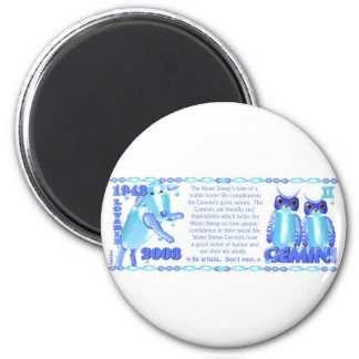 Valxart 2003 1943 2063 zodiac WaterSheep Gemini Magnet