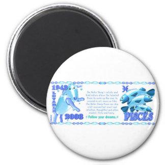 Valxart 2003 1943 2063 zodiac WaterSheep Pisces Magnet