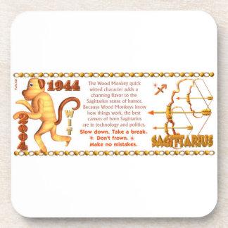 Valxart 2004 1944  zodiac WoodMonkey Sagittarius Coaster