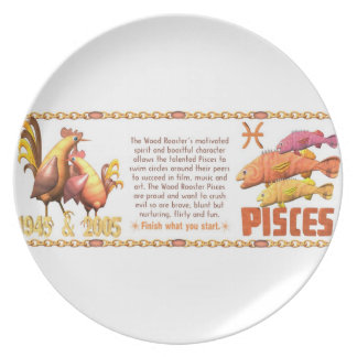 Valxart 2005 1945 2065 zodiac WoodRooster Pisces Party Plate