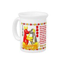 Valxart 2006 1946 2066 zodiac FireDog Sagittarius Beverage Pitchers