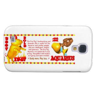 Valxart 2007 1947 2067 zodiac FirePig Aquarius Samsung Galaxy S4 Cover
