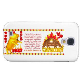 Valxart 2007 1947 2067 zodiac FirePig Capricorn Galaxy S4 Cover