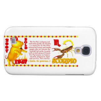 Valxart 2007 1947 2067 zodiac FirePig Scorpio Galaxy S4 Case