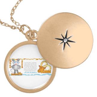 Valxart 2008 1948 2068 EarthRat zodiac Aries Round Locket Necklace