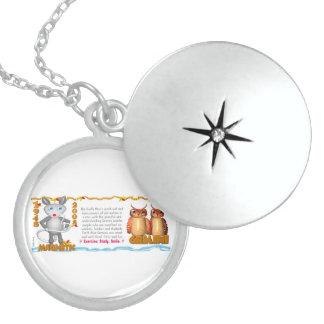 Valxart 2008 1948 2068 EarthRat zodiac Gemini Round Locket Necklace