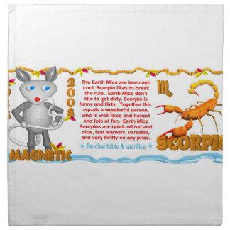 Valxart 2008 1948 2068 escorpiones del zodiaco de  servilleta imprimida