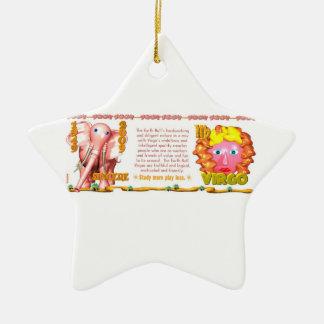 Valxart 2009 1949 2069 virgos del zodiaco de adorno navideño de cerámica en forma de estrella