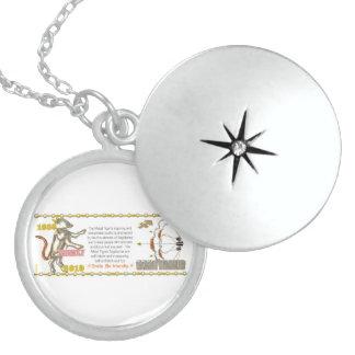 Valxart 2010 2070 1950 MetalTiger Sagittarius Round Locket Necklace