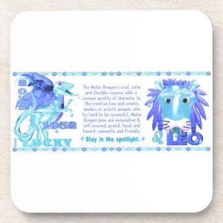 Valxart 2012 2072 1952 WaterDragon zodiac Leo Beverage Coaster