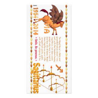 Valxart 2014 1954 Wood Horse zodiac Sagittarius Card