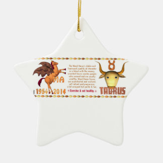 Valxart 2014 2074 1954 tauro del zodiaco de WoodHo Ornamento Para Arbol De Navidad