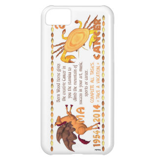 Valxart 2014 2074 1954 WoodHorse zodiac Cancer Cover For iPhone 5C