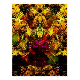 Valxart abstract animals postcard