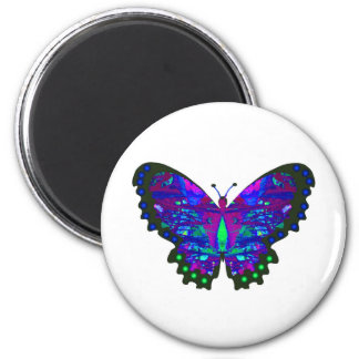 Valxart abstract blue butterfly gifts magnet