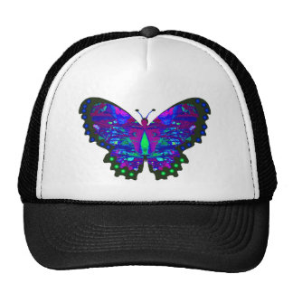 Valxart abstract blue butterfly gifts trucker hat