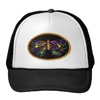 Valxart abstract spiral butterfly trucker hat