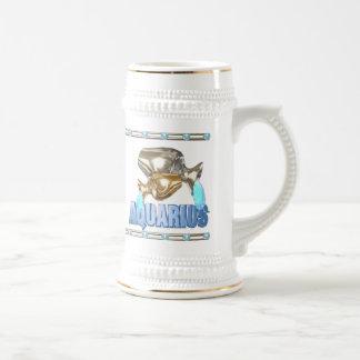 Valxart Aquarius Aquarius zodiac friendship Beer Stein