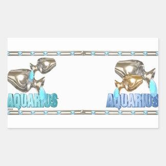 Valxart Aquarius Aquarius zodiac friendship Rectangular Sticker