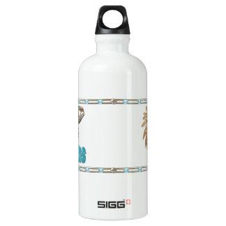 Valxart Aquarius Leo zodiac friendship Aluminum Water Bottle