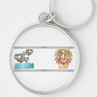 Valxart Aquarius Leo zodiac friendship Keychain