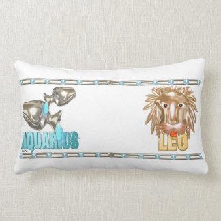 Valxart Aquarius Leo zodiac friendship Pillow