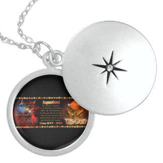 Valxart Aquarius Pisces Silver zodiac Cusp Round Locket Necklace