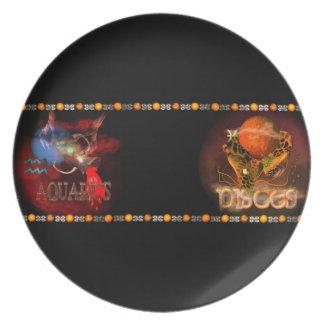 Valxart Aquarius Pisces zodiac Cusp Dinner Plate