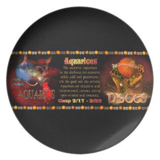 Valxart Aquarius Pisces zodiac Cusp Plate