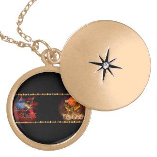 Valxart Aquarius Pisces zodiac Cusp Round Locket Necklace