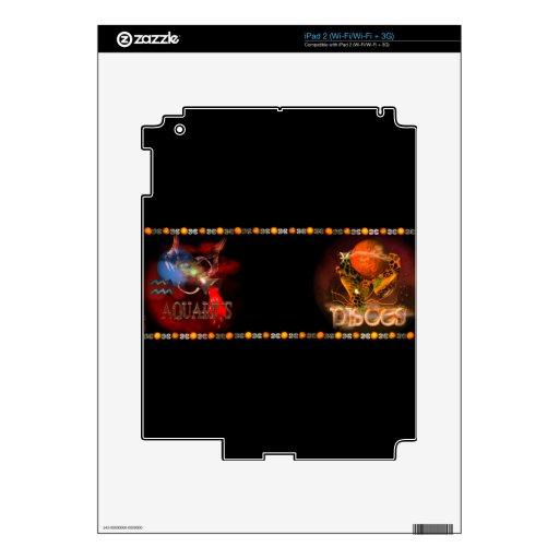 Valxart Aquarius Pisces zodiac Cusp Decal For iPad 2