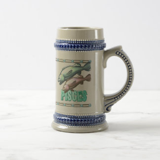 Valxart Aquarius Pisces zodiac friendship Beer Stein