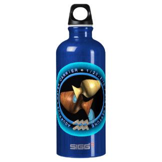 valxart Aquarius zodiac logo Aluminum Water Bottle