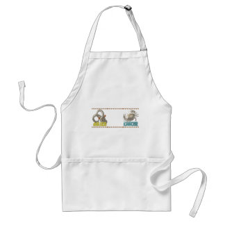 ValxArt Aries Cancer zodiac friendship Adult Apron