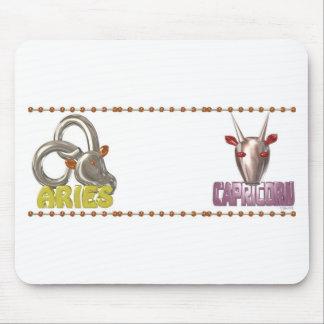 Valxart Aries Capricorn zodiac friendship Mousepad