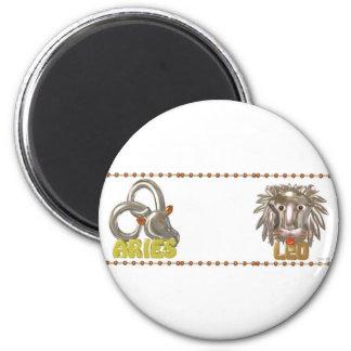 ValxArt Aries Leo zodiac friendship Magnet