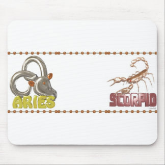 ValxArt Aries Scorpio zodiac friendship Mouse Pad