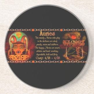Valxart Aries Taurus zodiac cusp / 2 sign Beverage Coaster