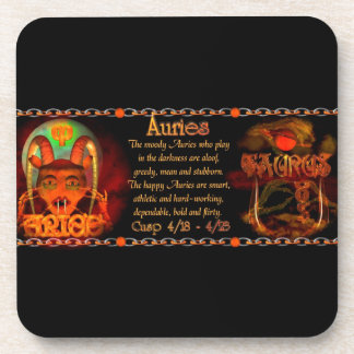 Valxart Aries Taurus zodiac cusp / 2 sign Drink Coasters