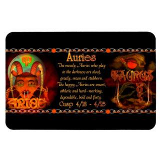 Valxart Aries Taurus zodiac cusp / 2 sign Rectangular Photo Magnet
