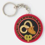 Valxart Aries  zodiac logo Keychains