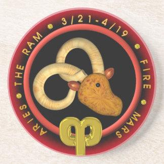 Valxart Aries zodiac round coaster