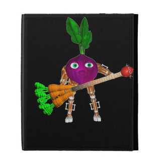 Valxart BeetBot plays a juicy carrot guitar iPad Folio Covers