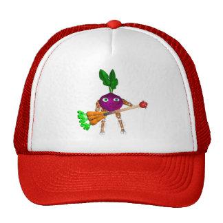 Valxart BeetBot plays a juicy carrot guitar Mesh Hats